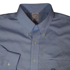 Brooks Brothers Men Blue Non Iron Shirt 16.5